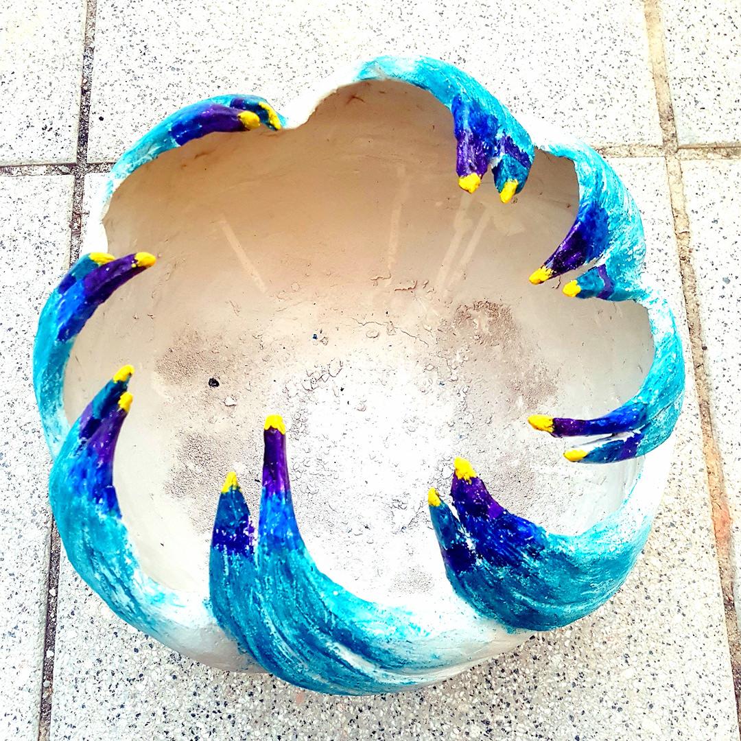 Handgefertigte Schale aus Ton, Rose von Golden Girls 2