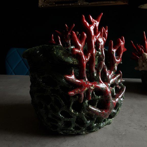 Vase_Koralle_rot_grün_Porzellan_Ceramics_Ferdinand_Interior_Wien_02