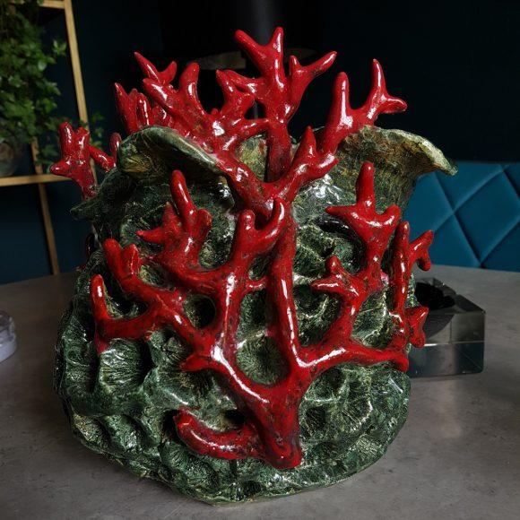 Vase_Koralle_rot_grün_Porzellan_Ceramics_Ferdinand_Interior_Wien_04